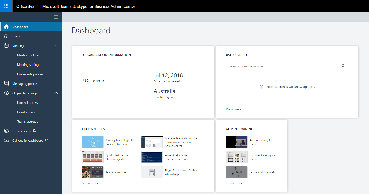 Microsoft Teams & Skype for Business Admin Center | The UC Techie